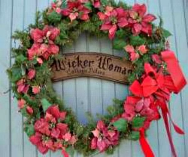 Wicker Woman Xmas Wreath