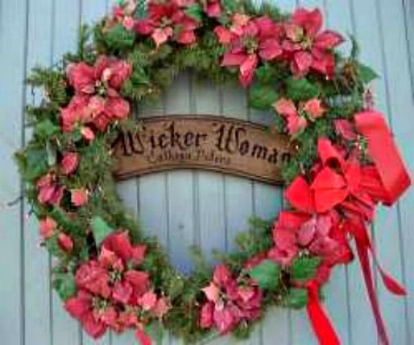 WickerWoman Xmas wreath