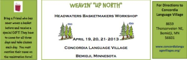 Weavin' Up North Basket Workshop Brochure 2013