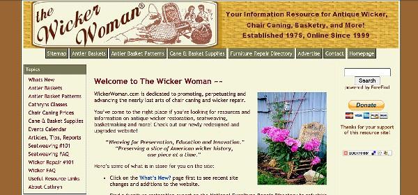 WickerWoman.com site 2008 header graphic
