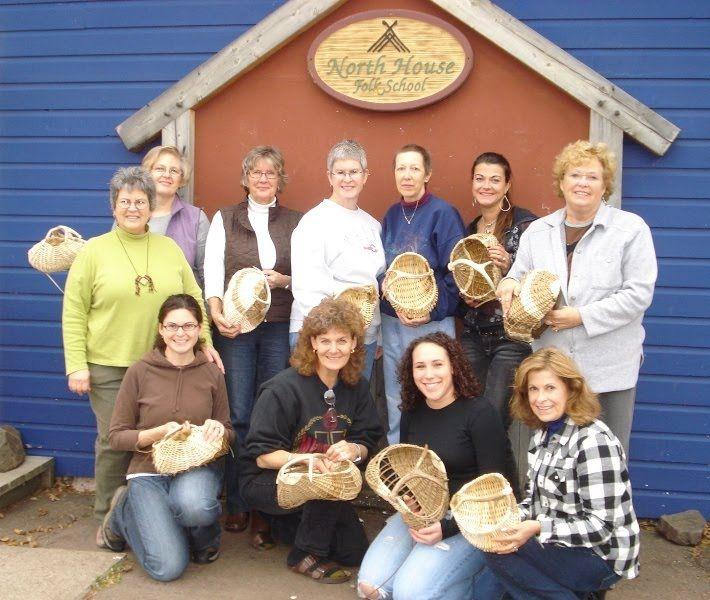 Peters Antler Basket Class North House Folk School