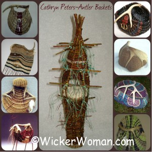 antler basket collage