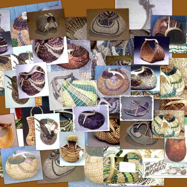Antler Basket Pattern Collage by Cathryn Peters