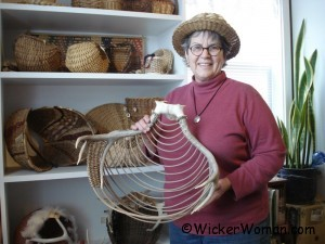 Peters with antler baskets