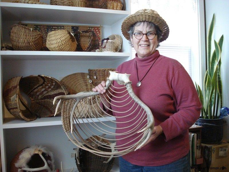 Antler Basket Art Presentation at Ely Library