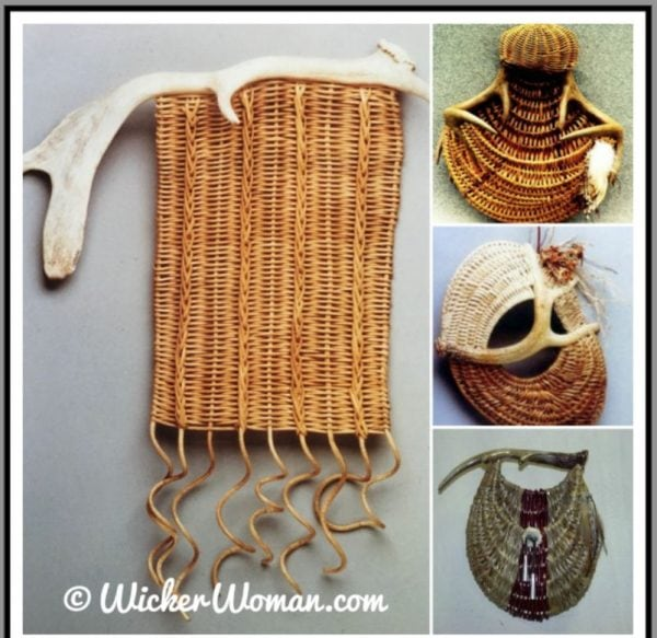 antler wall basket collage