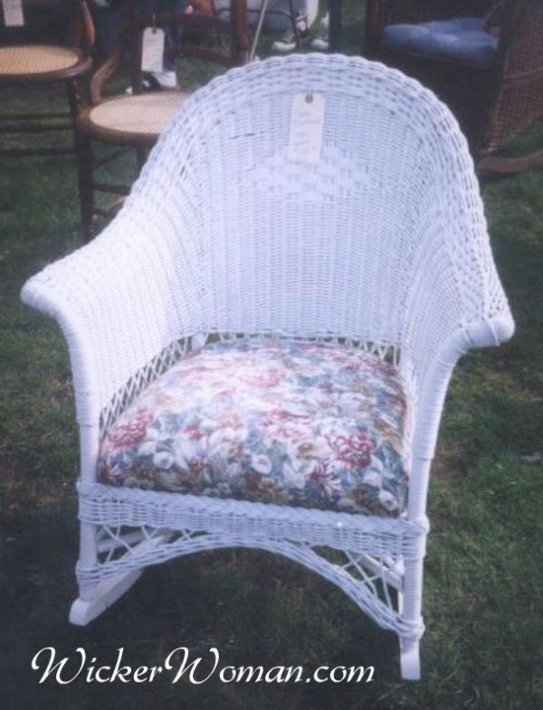 Art Deco paper wicker rocker