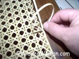 attach binder cane strand