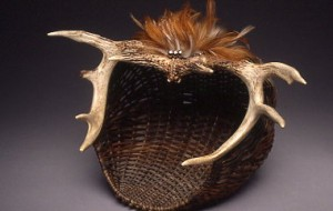 Autumn Encounter, Antler Basket Sculpture