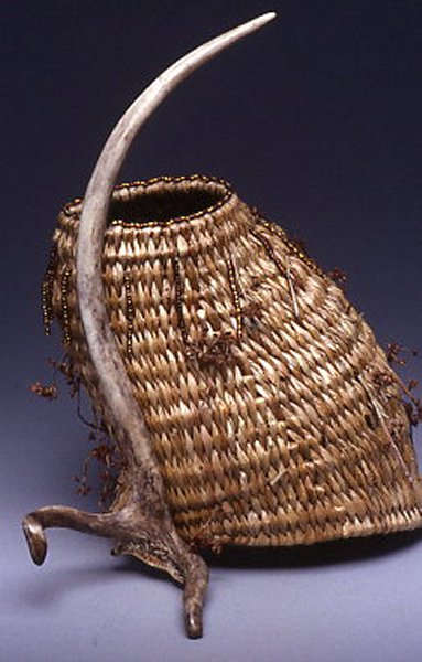Red Deer Antler Basket Sculpture