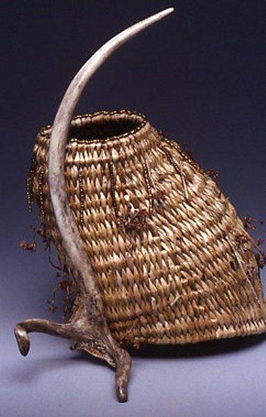 Red Deer Antler Basket Sculpture