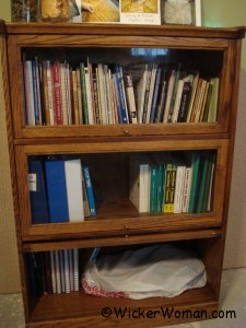 caning books in barrister bookcase