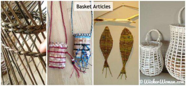 Basket care, patterns and antler basket articles