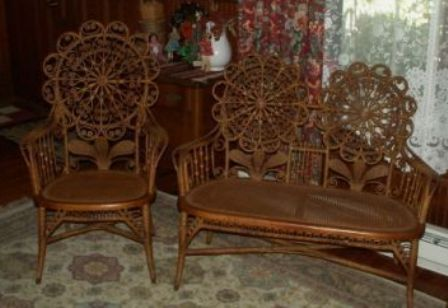 Victorian Wicker Set