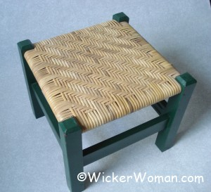 binding cane twill stool