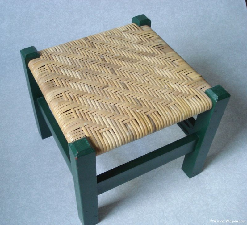 binding cane twill stool