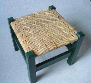 cane twill footstool