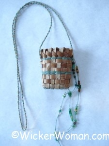birch bark necklace basket