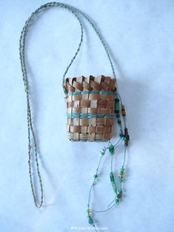 birch bark necklace basket