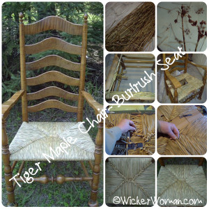 how-to weave bulrush chair seats