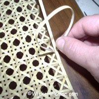 hole-to-hole strand chair cane weaving