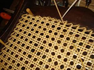 cane strand weaving