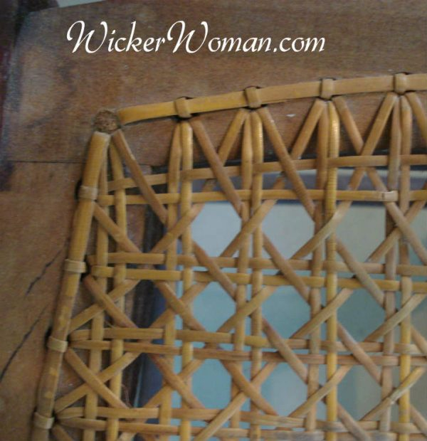 Diagonal chair caning step errors