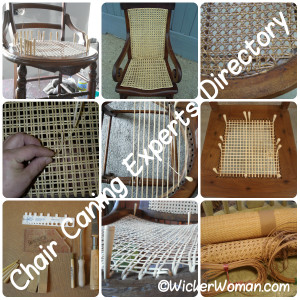 Locate the chair caning repair expert nearest you in the Furniture Repair Directory™ on WickerWoman.com