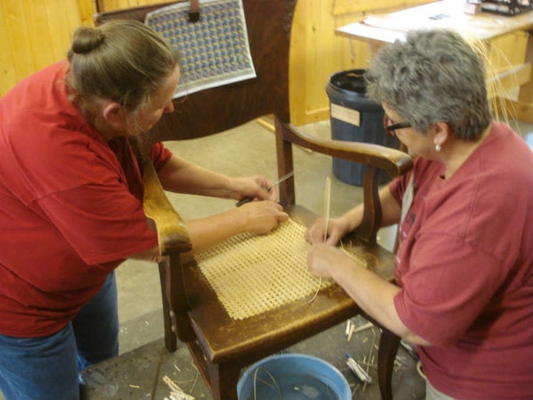 chair caning for two hands