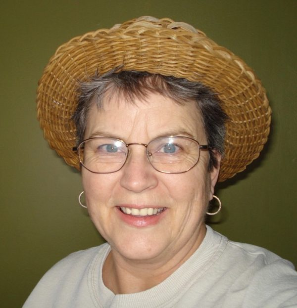 Seatweaving and antler basket weaving instructor, Cathryn Peters