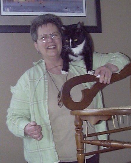 Chair Caning Feline Helper