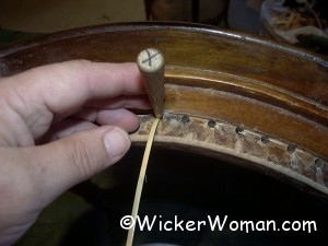chair caning center back strand
