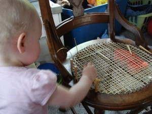Chair caning baby