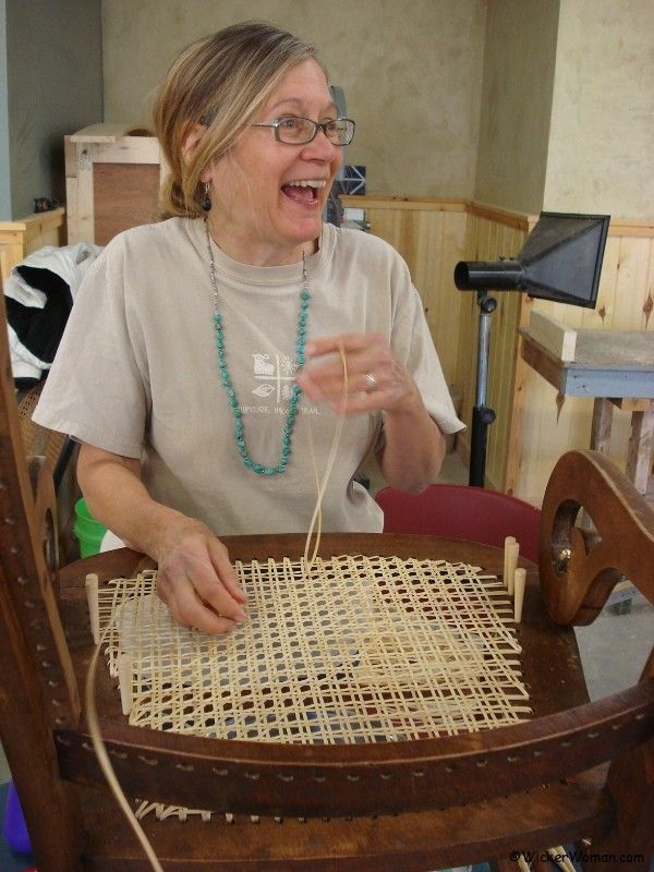 Chair caning class North House Folk School