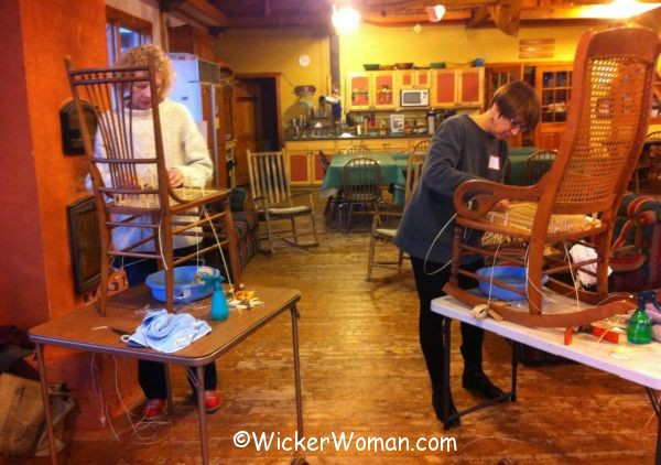 chair caning class North House