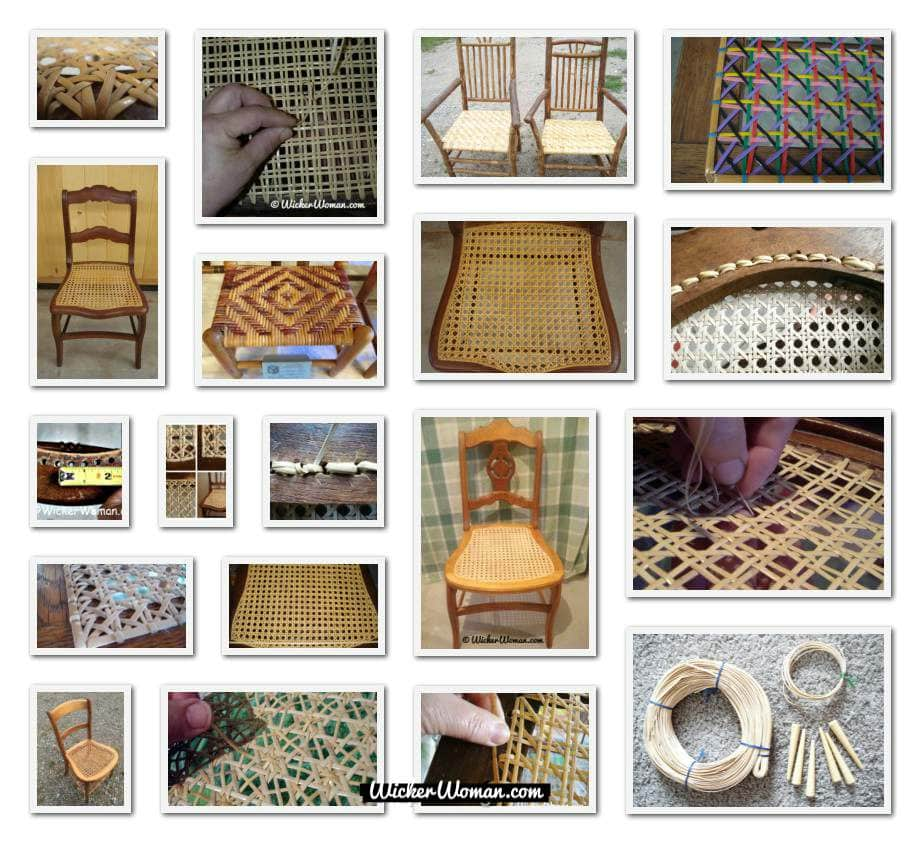chair caning collage image
