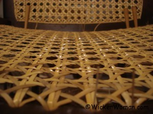 chair caning on curved back