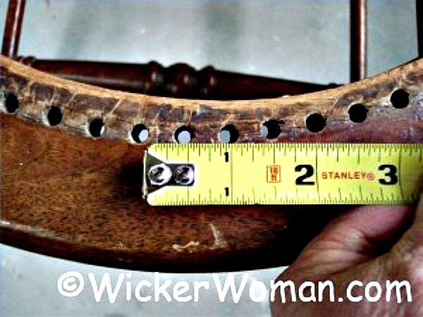 chair caning measure gauge