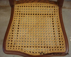 Traditonal hole chair caning