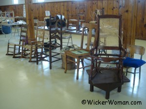 chair caning samples at TSWG Gathering