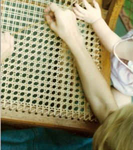 chair caning generation hands