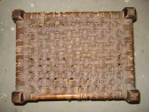 checkerboard paper rush stool