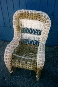 Child's Wicker Rocker Repaired