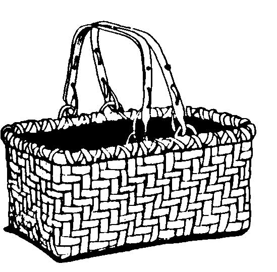 White Basket Clipart : Basketmakers basketweavers basket weaving