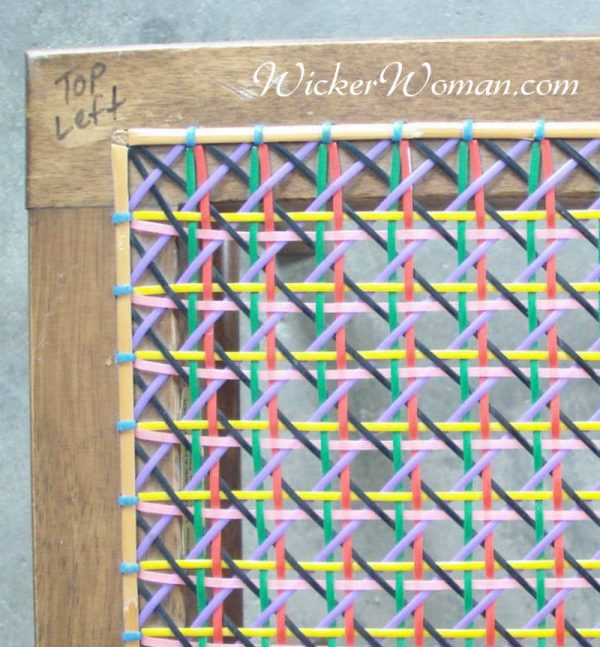 color coded corner hole caning steps