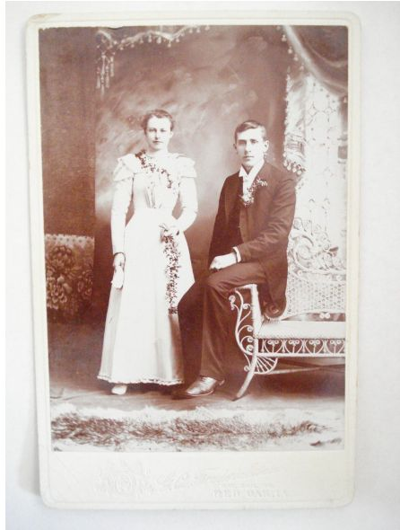 Wedding day wicker cabinet card