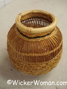 cpeters cedar bark basket