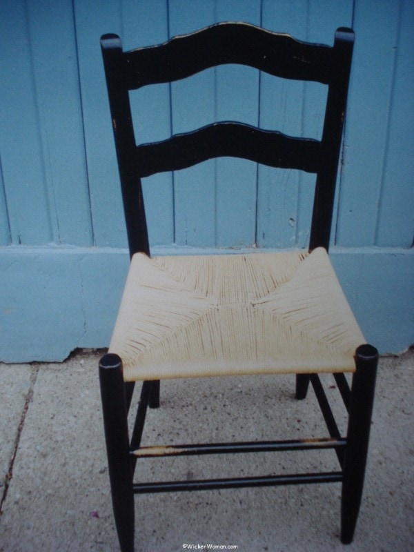 First paper rush chair seat