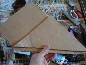 rush seat cardboard triangles