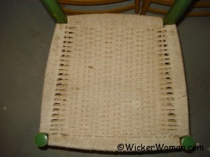 typical Danish cord woven seat